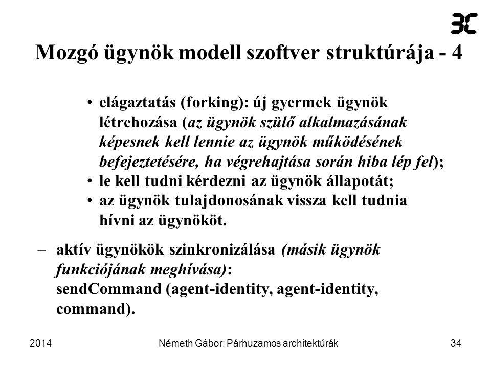 Mozgó ügynök modell szoftver struktúrája - 4