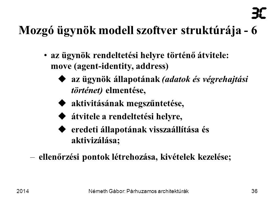 Mozgó ügynök modell szoftver struktúrája - 6