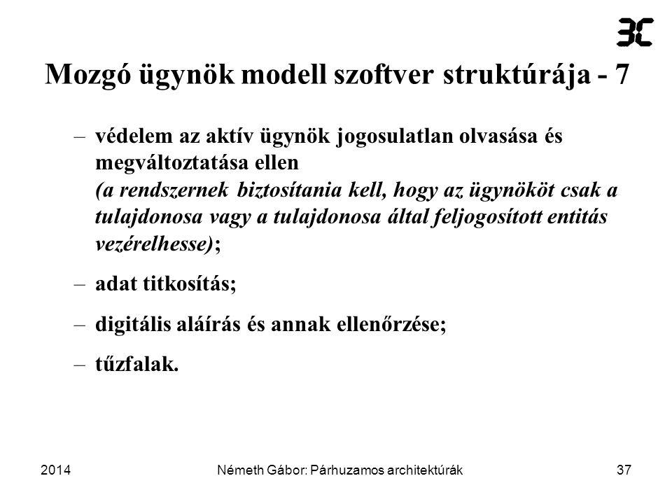 Mozgó ügynök modell szoftver struktúrája - 7