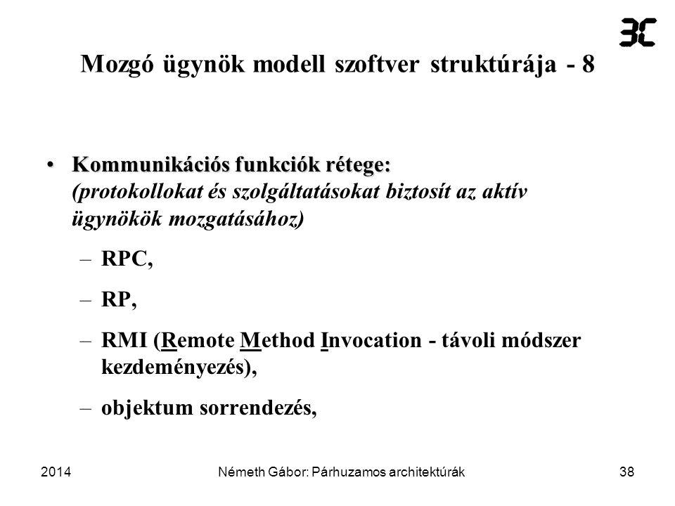 Mozgó ügynök modell szoftver struktúrája - 8