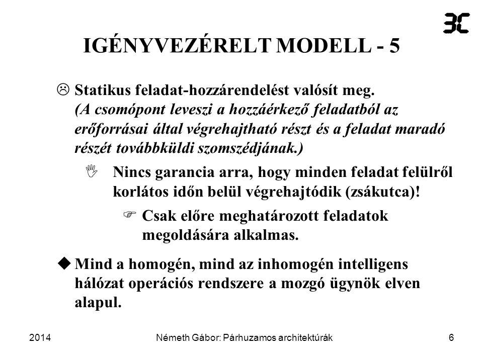 IGÉNYVEZÉRELT MODELL - 5