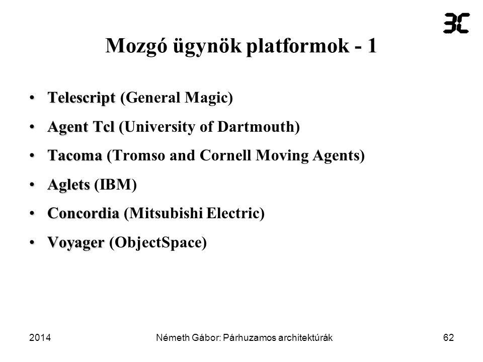 Mozgó ügynök platformok - 1