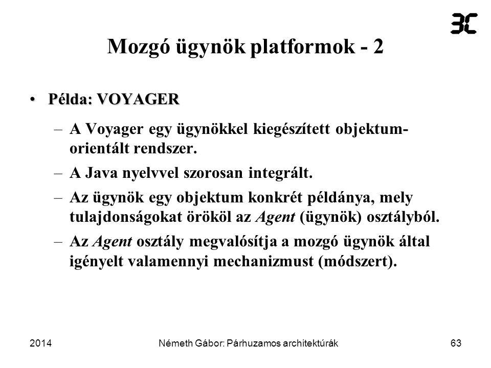 Mozgó ügynök platformok - 2