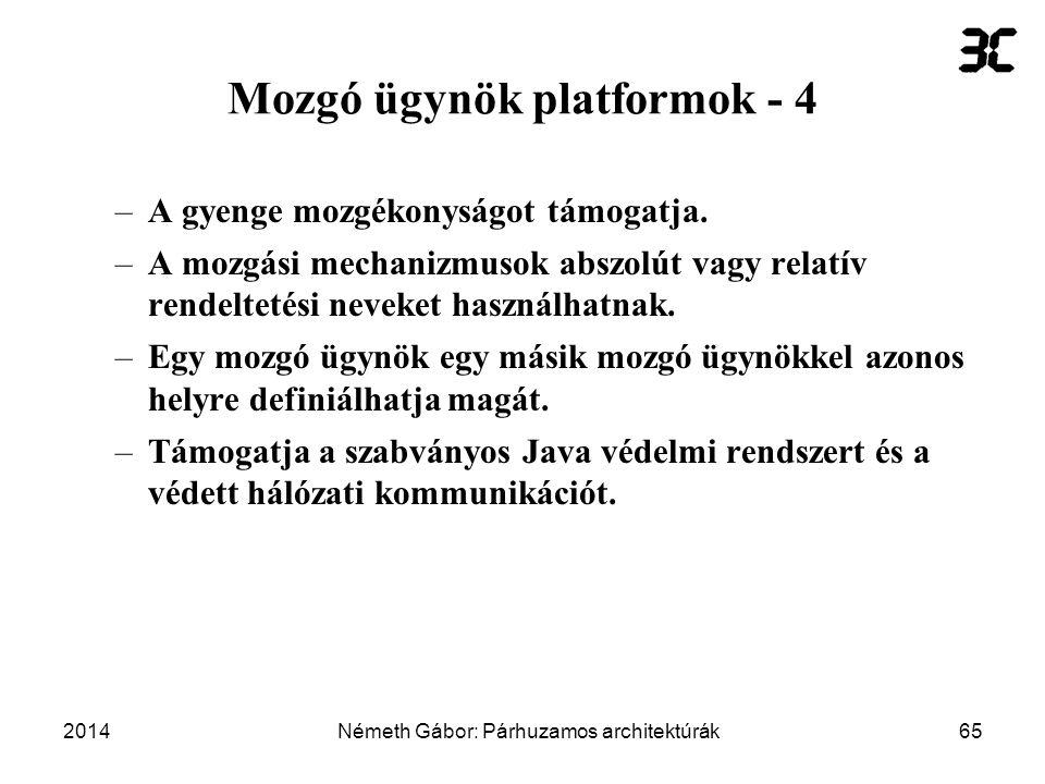 Mozgó ügynök platformok - 4