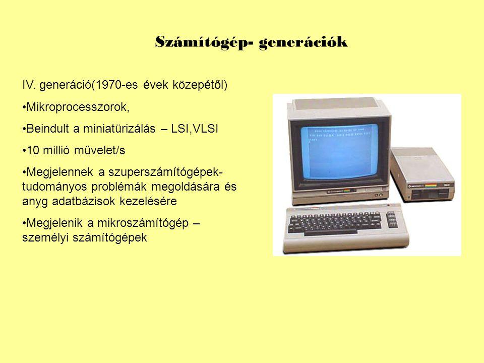 Számítógép- generációk