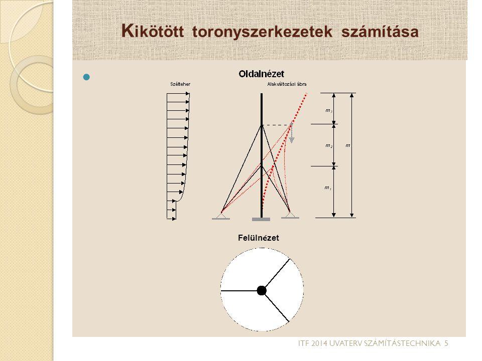 Kikötött toronyszerkezetek számítása