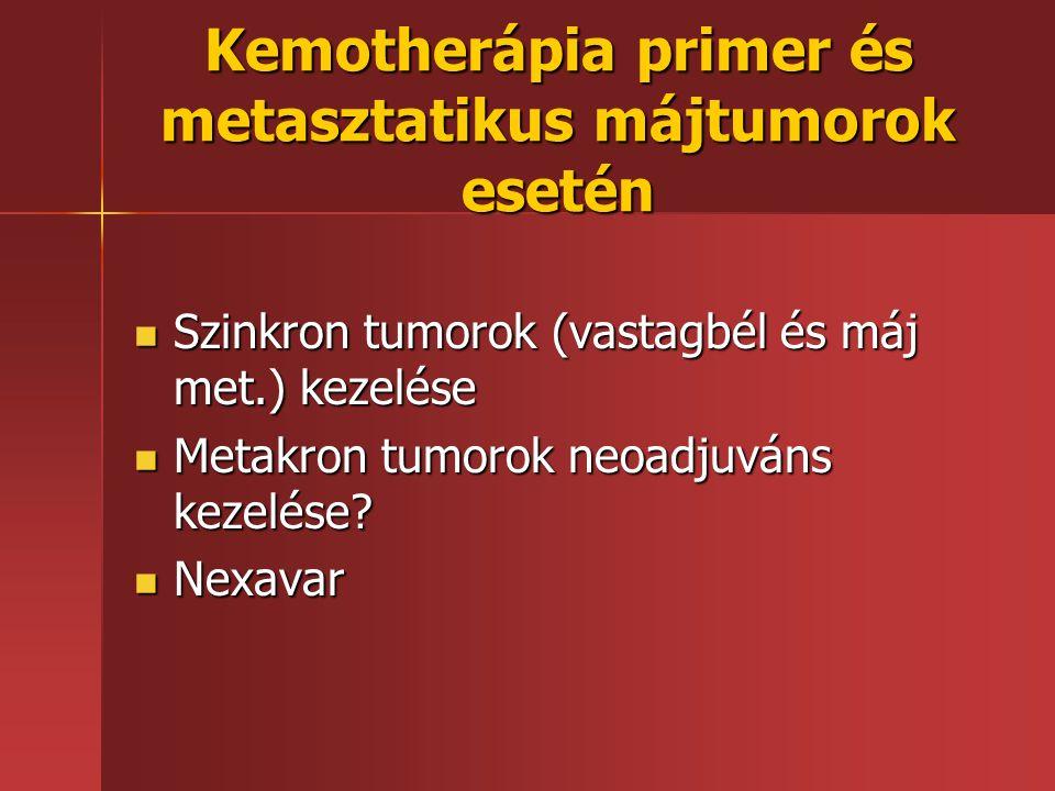 Kemotherápia primer és metasztatikus májtumorok esetén