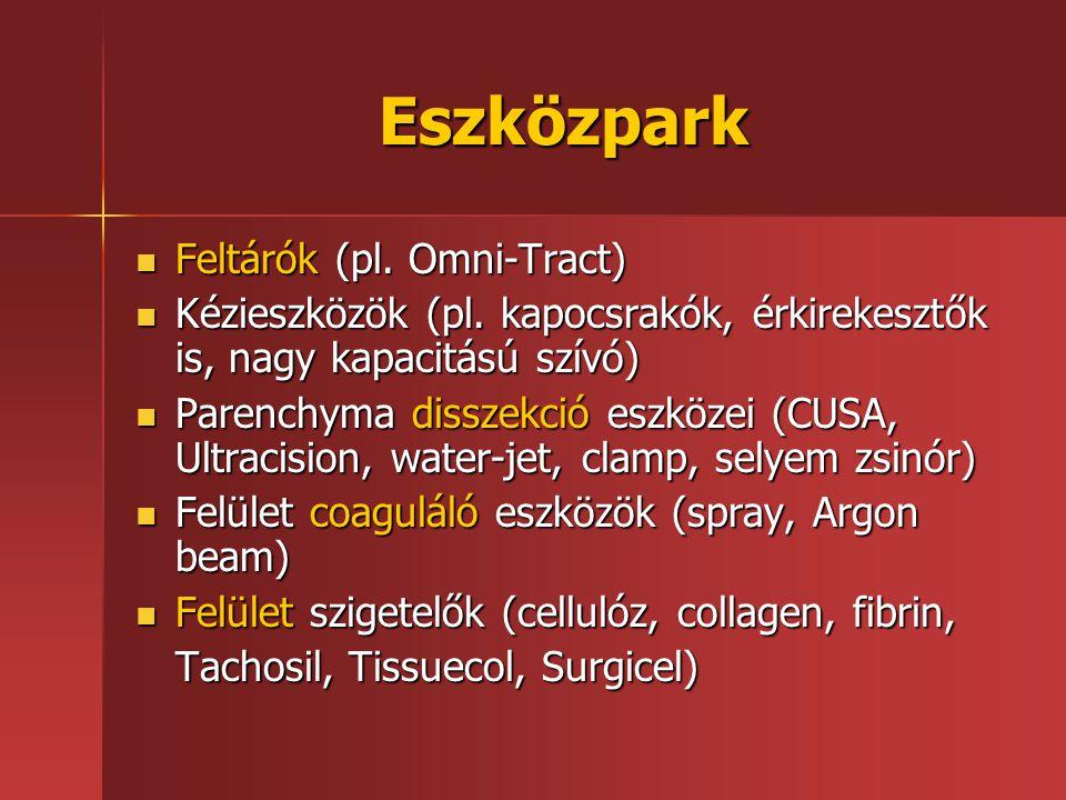 Eszközpark Feltárók (pl. Omni-Tract)