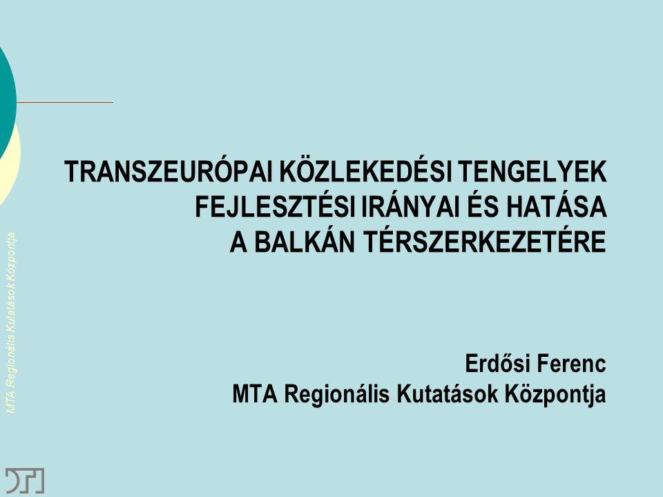 Erdősi Ferenc MTA Regionális Kutatások Központja