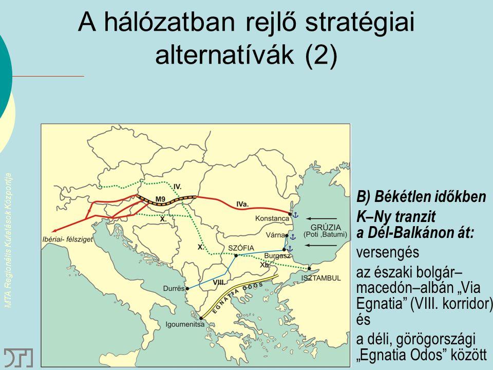 A hálózatban rejlő stratégiai alternatívák (2)