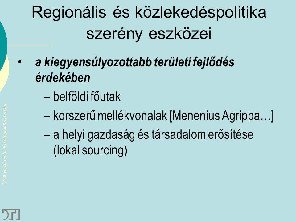 Regionális és közlekedéspolitika szerény eszközei