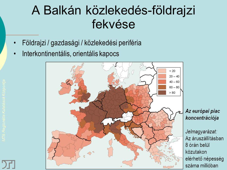 A Balkán közlekedés-földrajzi fekvése