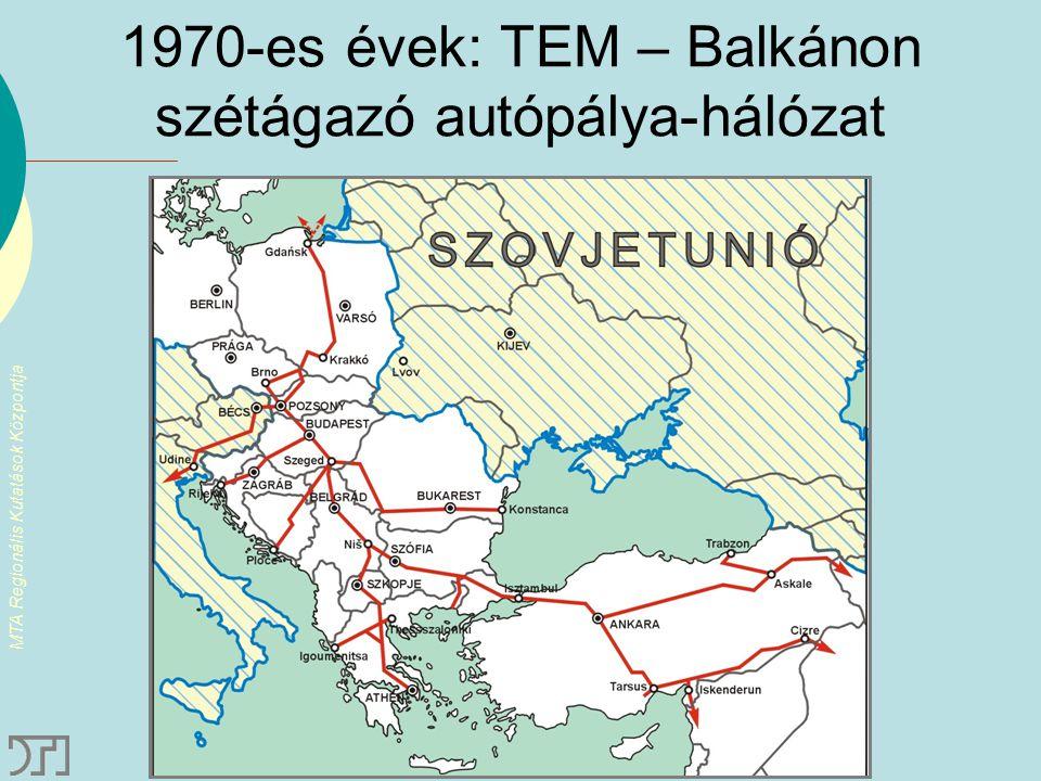 1970-es évek: TEM – Balkánon szétágazó autópálya-hálózat