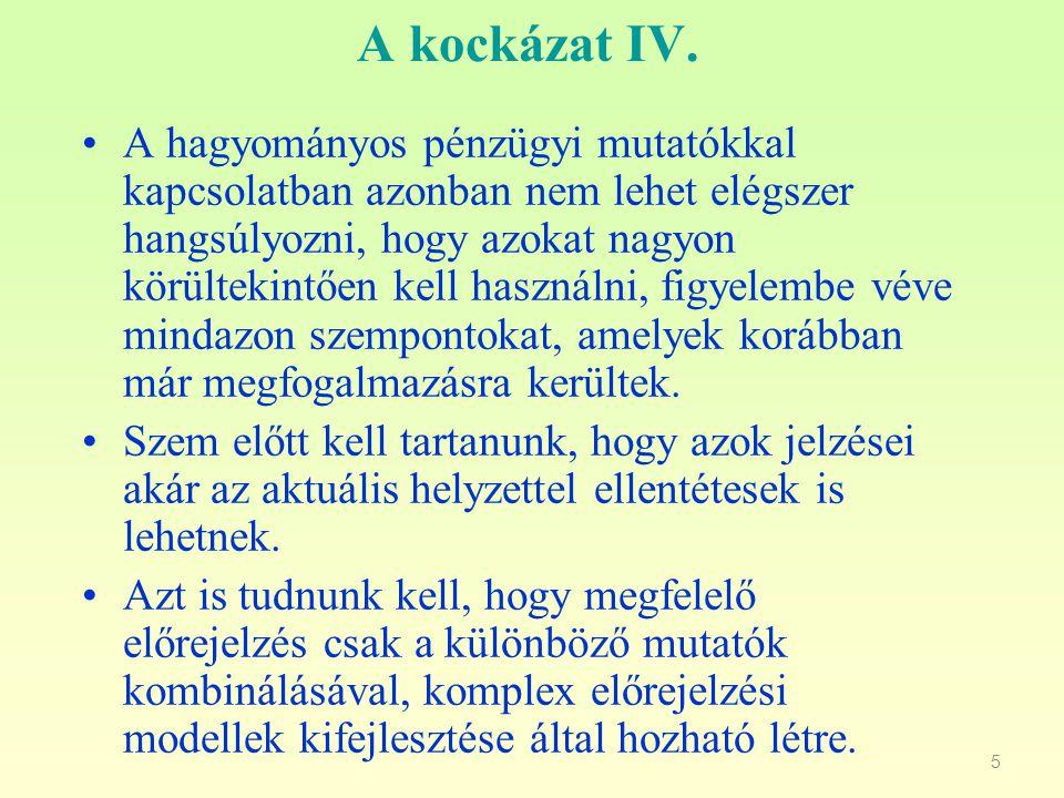 A kockázat IV.