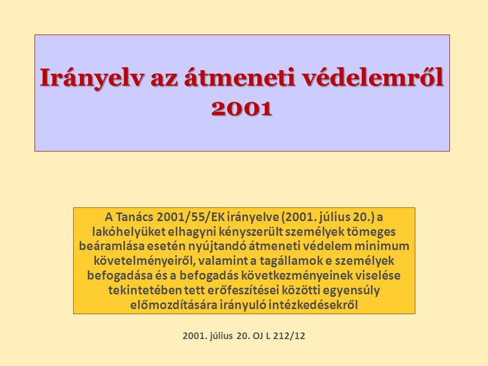 Irányelv az átmeneti védelemről 2001