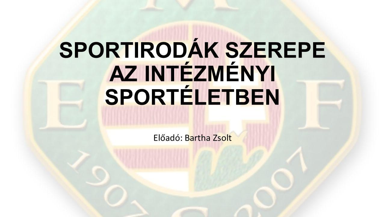 Sportirodák szerepe az intézményi sportéletben