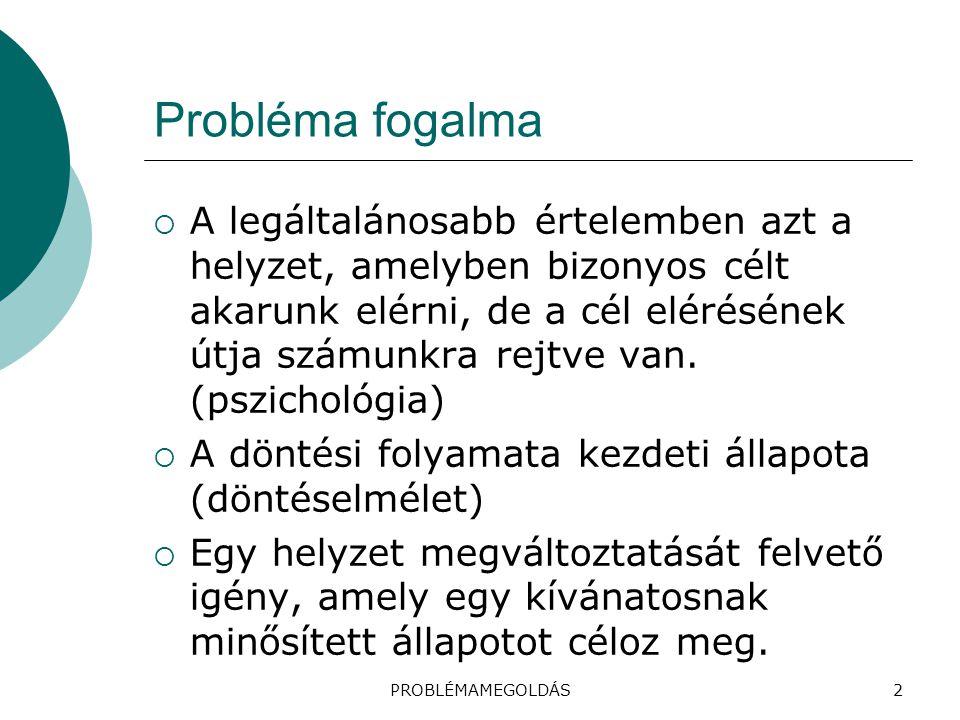 Probléma fogalma