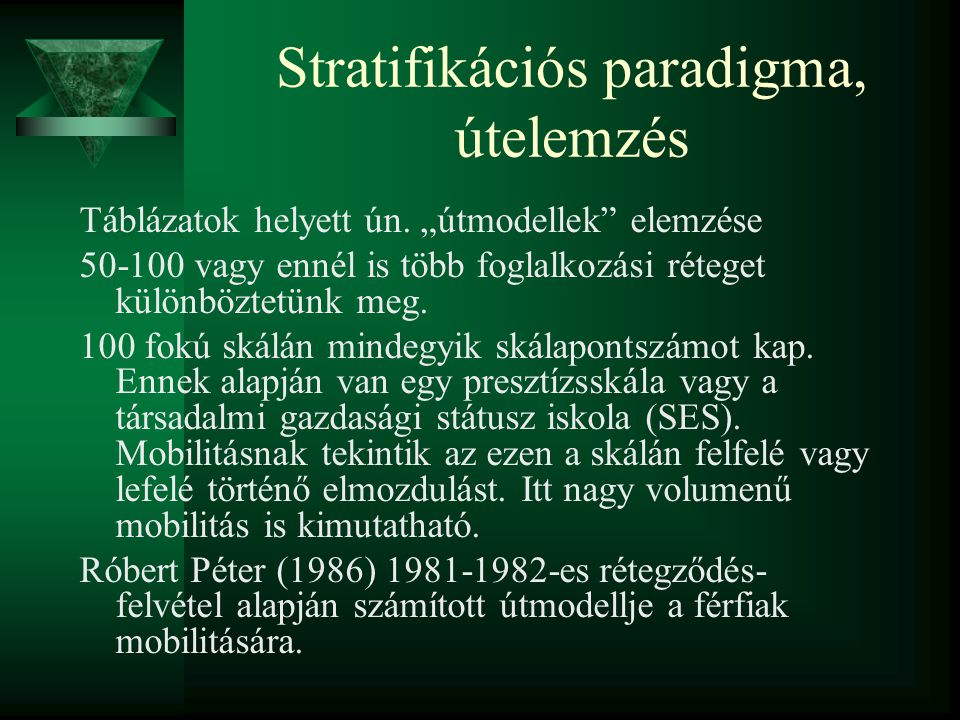 Stratifikációs paradigma, útelemzés