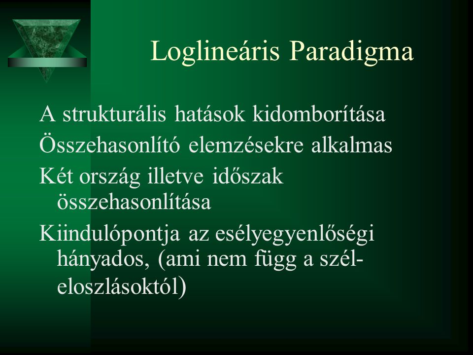 Loglineáris Paradigma