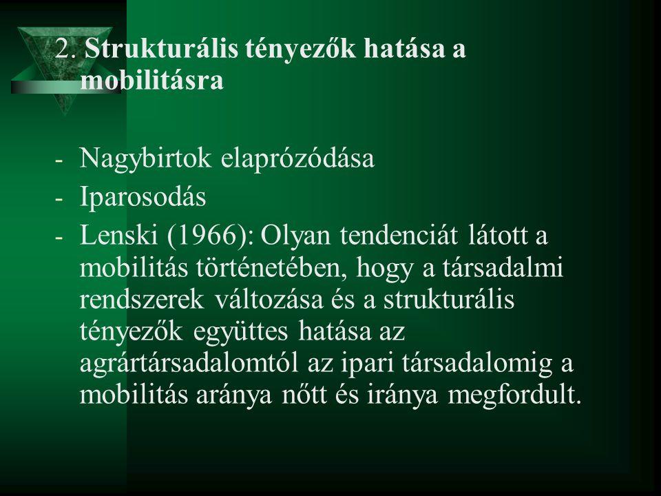 2. Strukturális tényezők hatása a mobilitásra