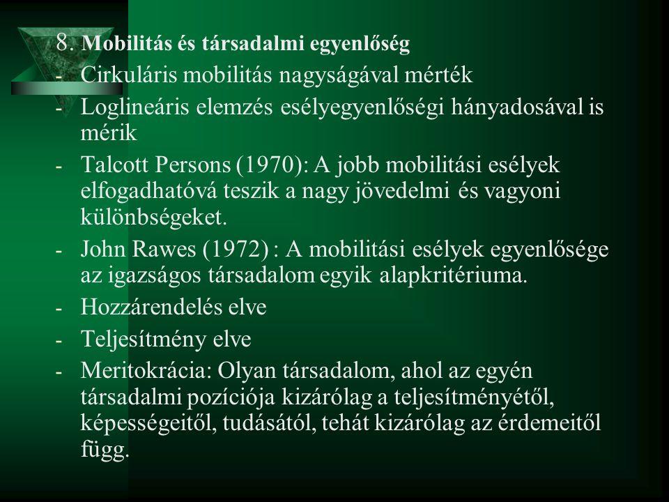 8. Mobilitás és társadalmi egyenlőség