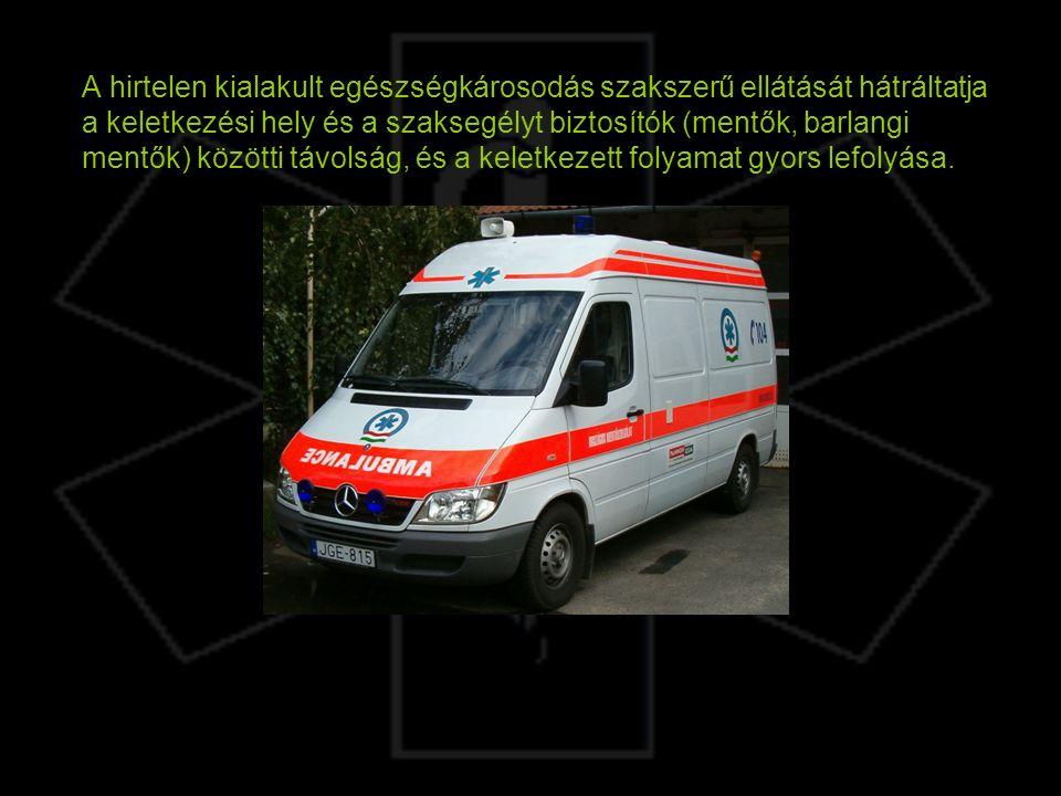 A hirtelen kialakult egészségkárosodás szakszerű ellátását hátráltatja a keletkezési hely és a szaksegélyt biztosítók (mentők, barlangi mentők) közötti távolság, és a keletkezett folyamat gyors lefolyása.