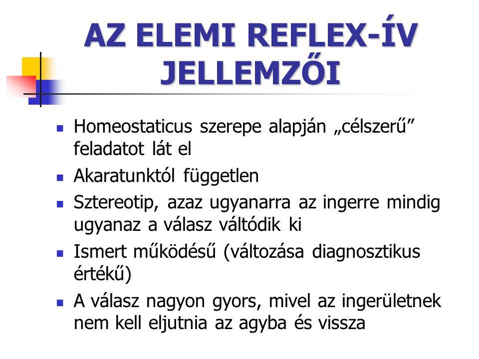 AZ ELEMI REFLEX-ÍV JELLEMZŐI