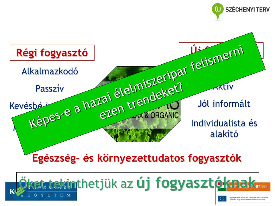 Egészség- és környezettudatos fogyasztók