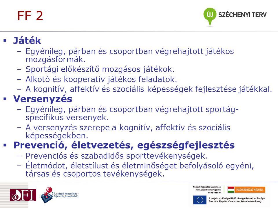 FF 2 Játék Versenyzés Prevenció, életvezetés, egészségfejlesztés