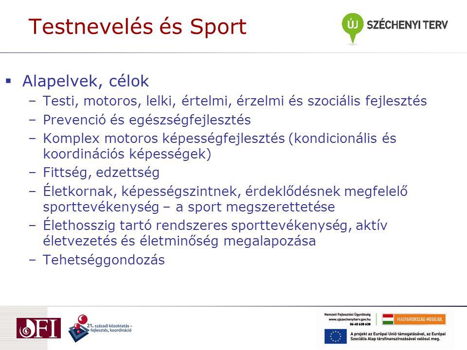 Testnevelés és Sport Alapelvek, célok