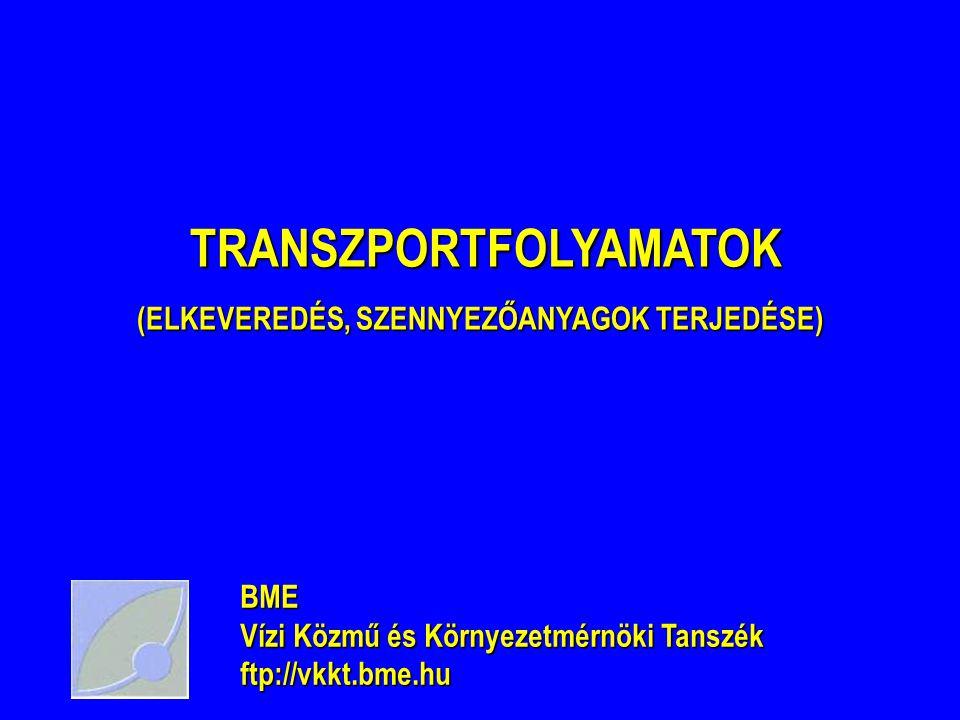 TRANSZPORTFOLYAMATOK (ELKEVEREDÉS, SZENNYEZŐANYAGOK TERJEDÉSE)
