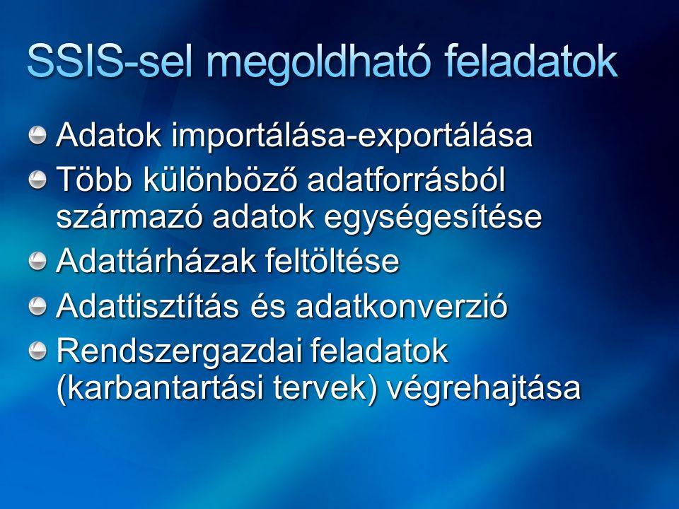SSIS-sel megoldható feladatok