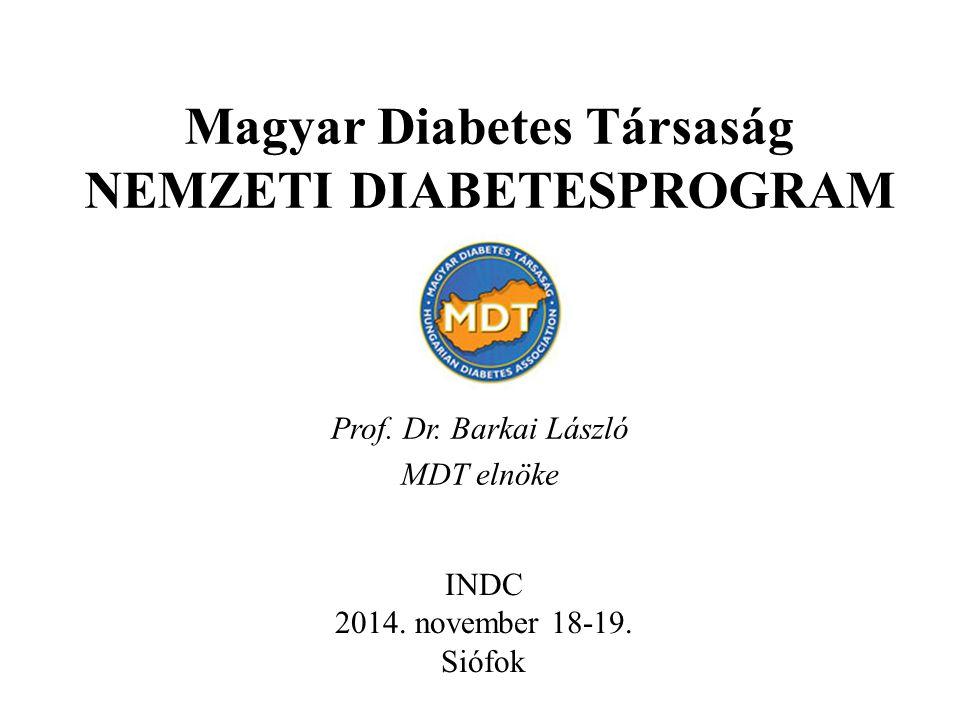 Magyar Diabetes Társaság NEMZETI DIABETESPROGRAM