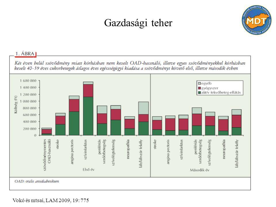 Gazdasági teher Vokó és mtsai, LAM 2009, 19: 775