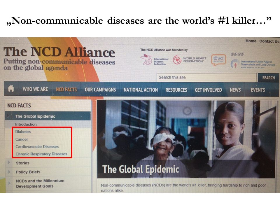 """Non-communicable diseases are the world's #1 killer…"