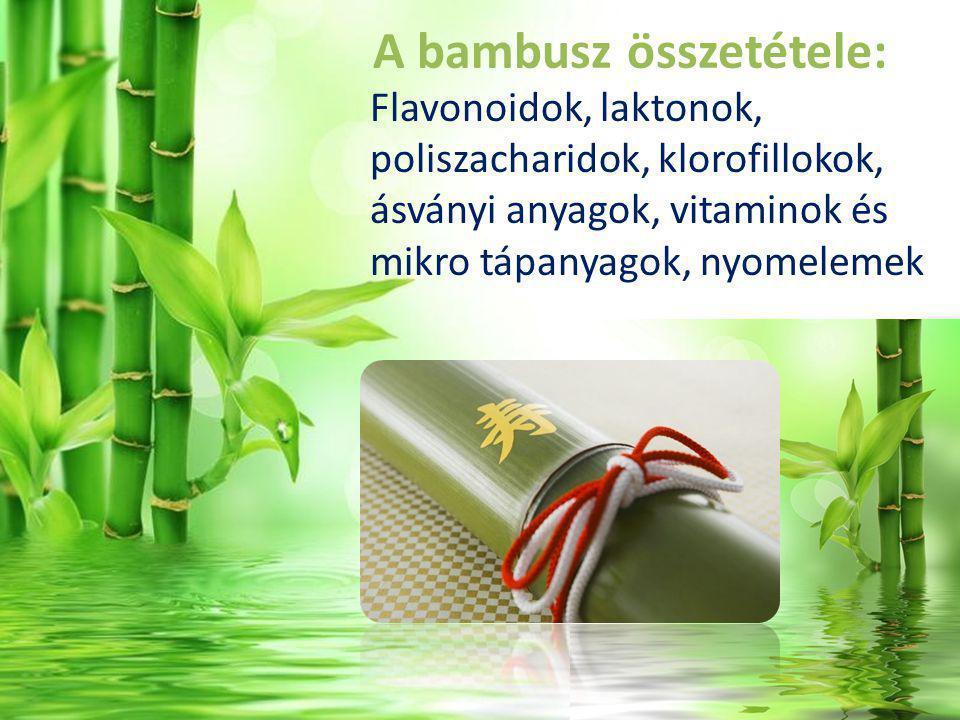 A bambusz összetétele: