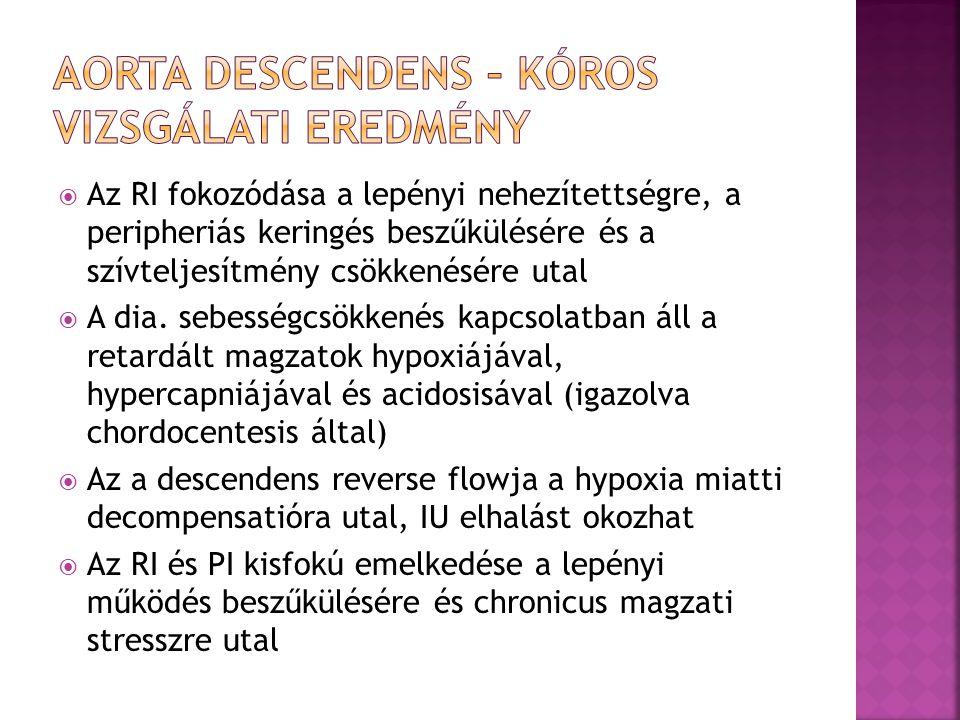 Aorta descendens – kóros vizsgálati eredmény