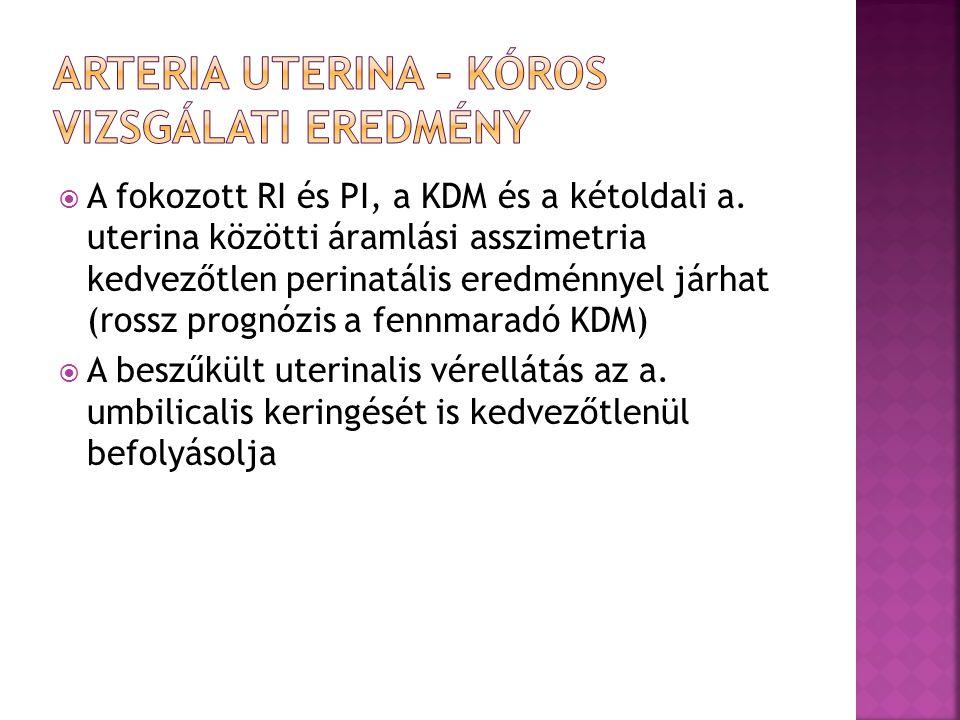 Arteria uterina – Kóros vizsgálati eredmény