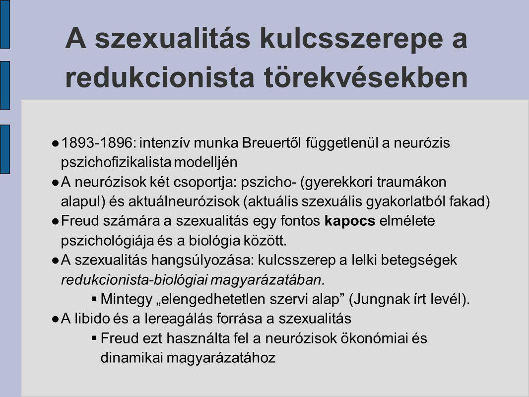 A szexualitás kulcsszerepe a redukcionista törekvésekben