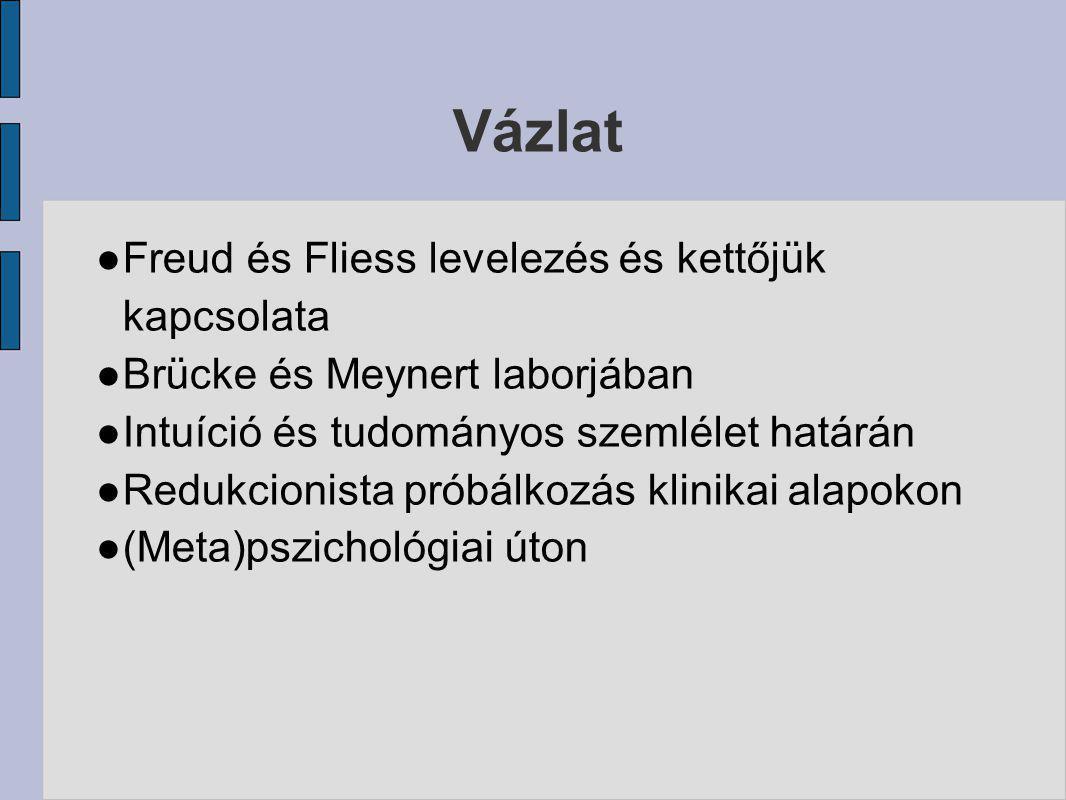 Vázlat Freud és Fliess levelezés és kettőjük kapcsolata