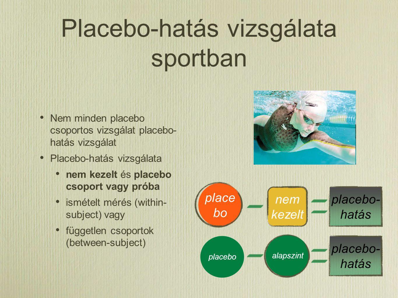 Placebo-hatás vizsgálata sportban