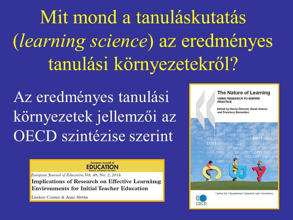Mit mond a tanuláskutatás (learning science) az eredményes tanulási környezetekről