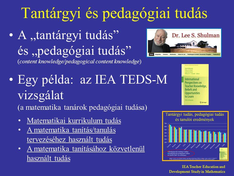 Tantárgyi és pedagógiai tudás