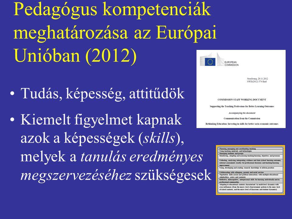 Pedagógus kompetenciák meghatározása az Európai Unióban (2012)