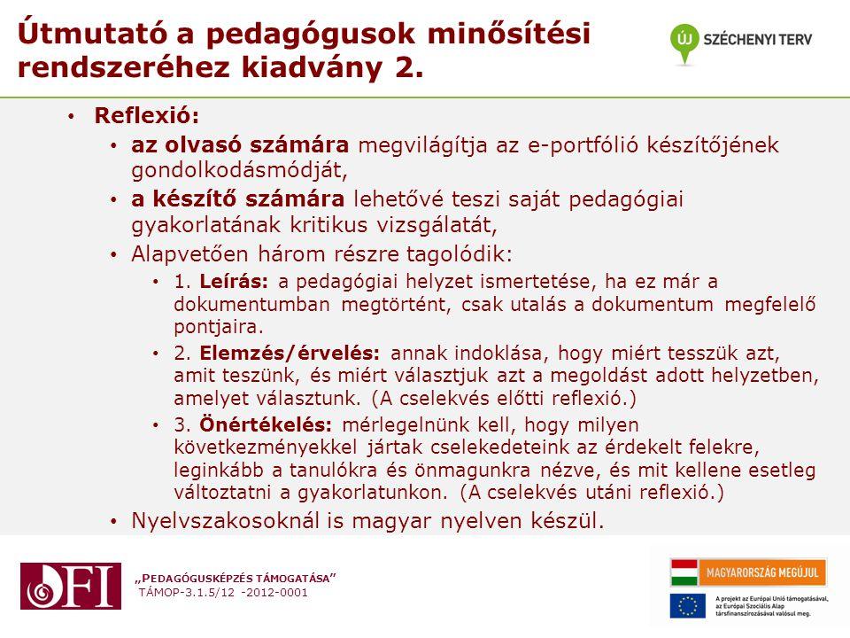 Útmutató a pedagógusok minősítési rendszeréhez kiadvány 2.