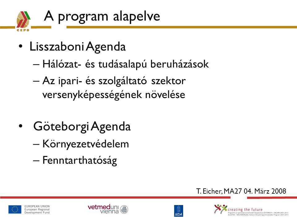 A program alapelve Lisszaboni Agenda Göteborgi Agenda