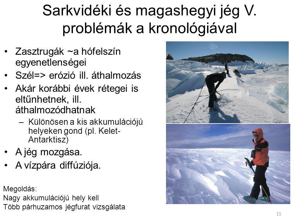 Sarkvidéki és magashegyi jég V. problémák a kronológiával