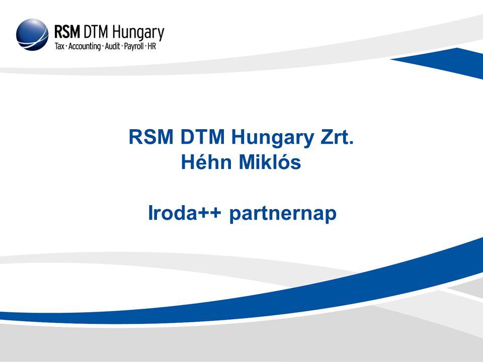 RSM DTM Hungary Zrt. Héhn Miklós