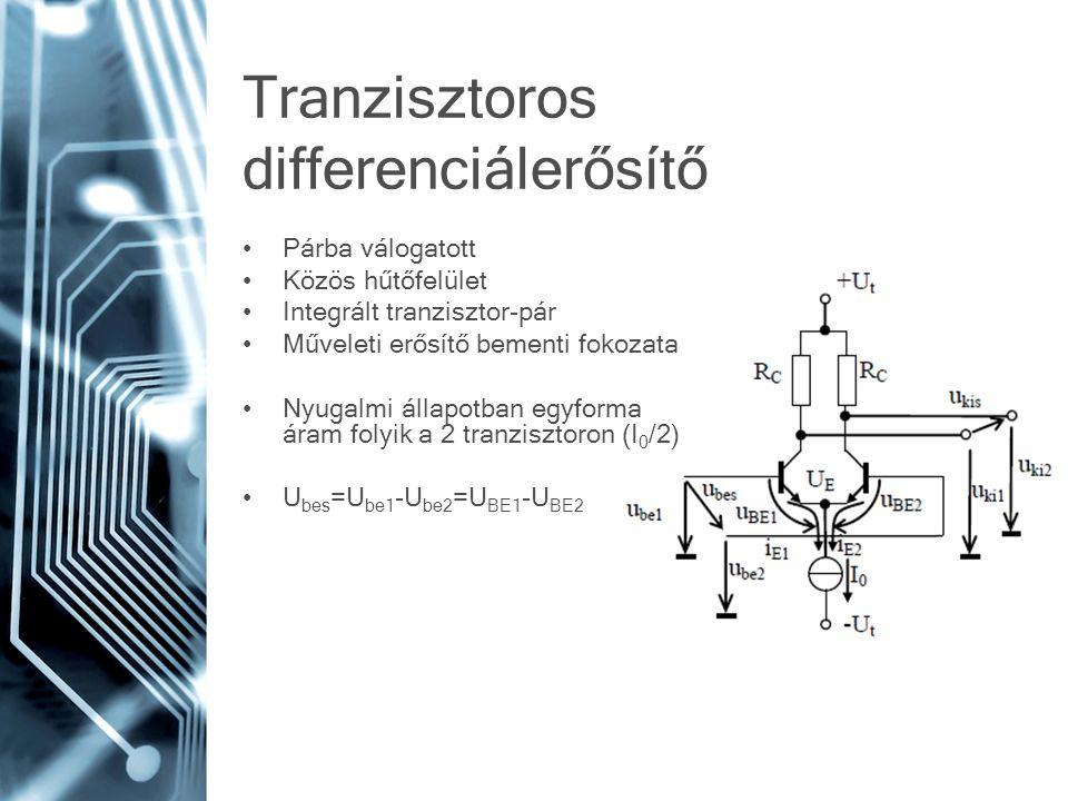 Tranzisztoros differenciálerősítő