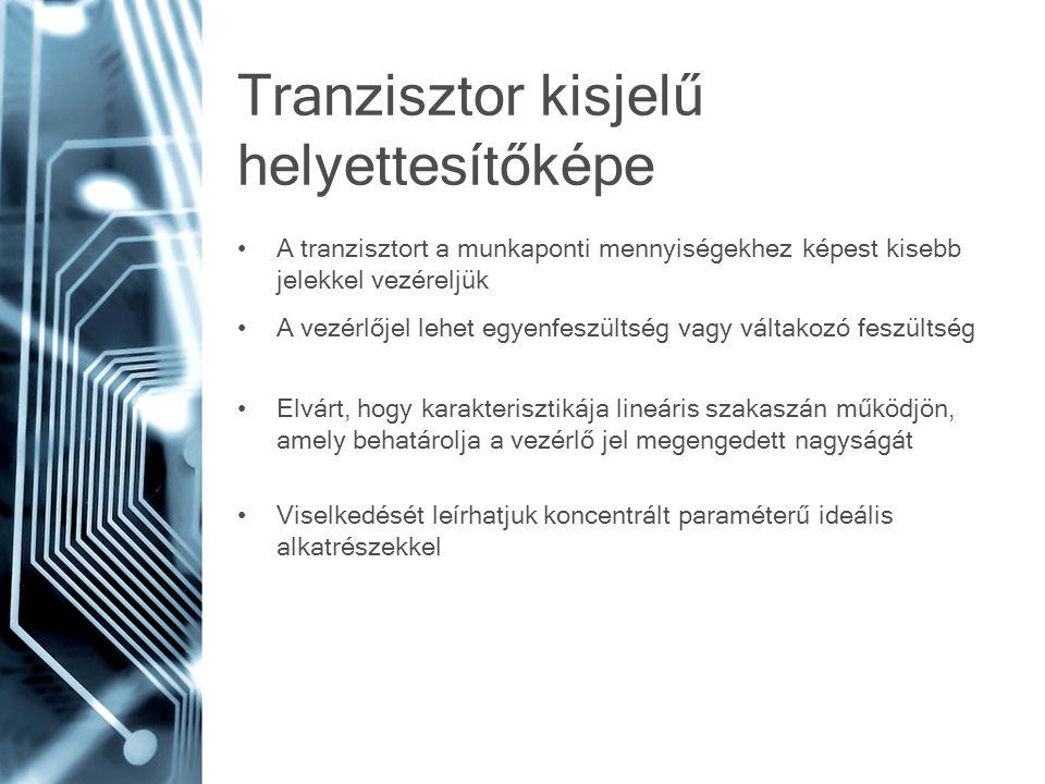Tranzisztor kisjelű helyettesítőképe